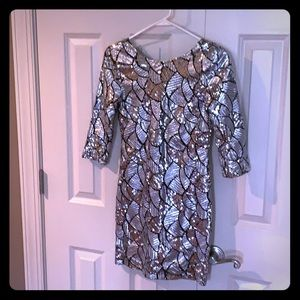 Arden B silver sequined dress